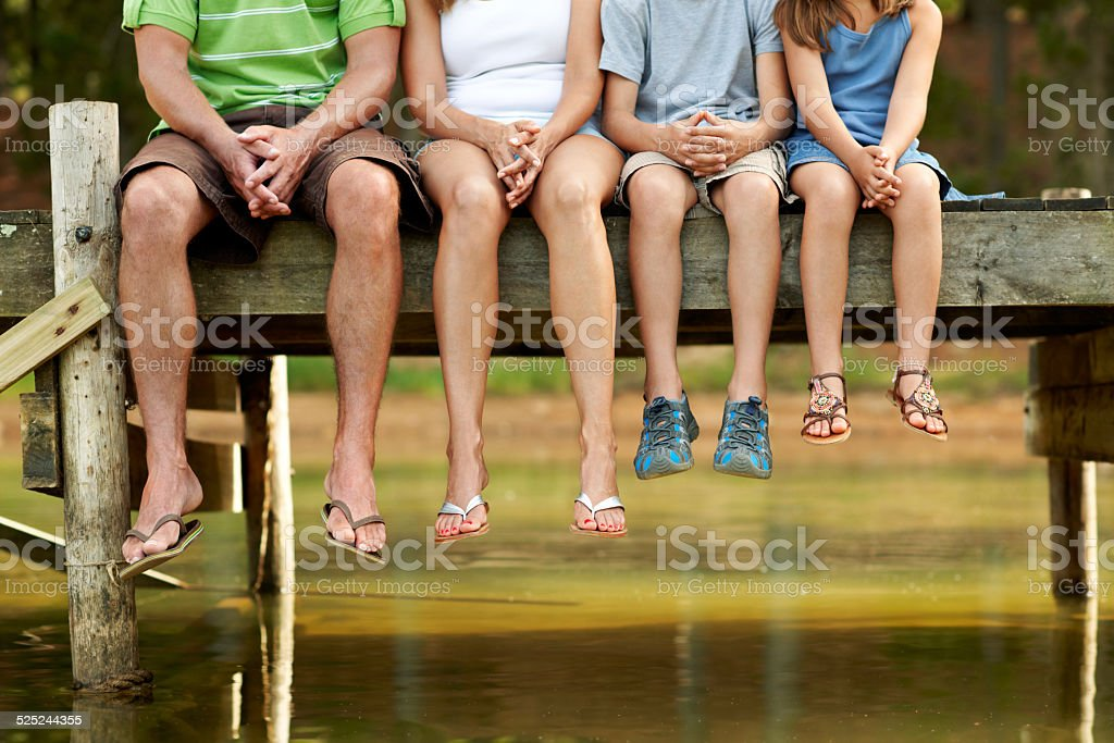 They are in a row for adventure stock photo