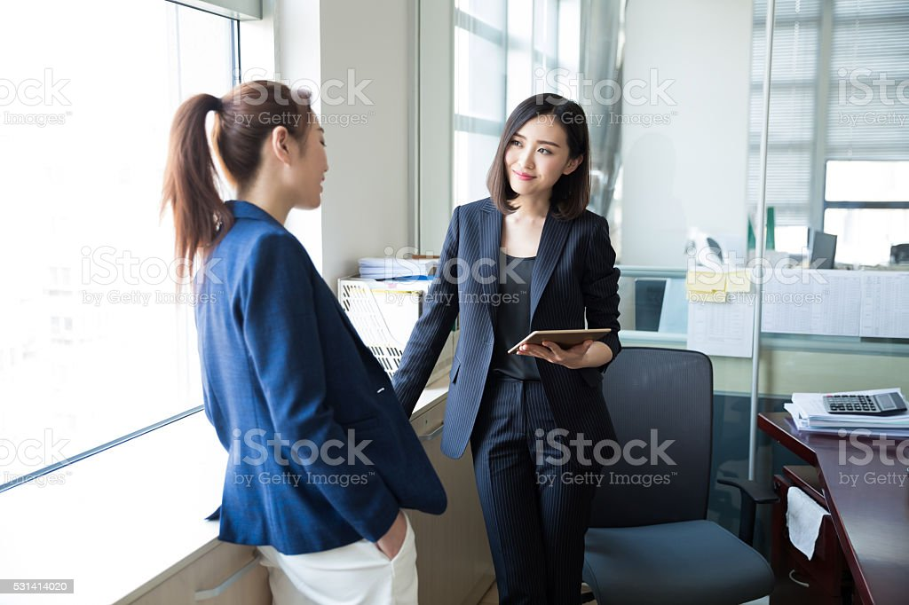 they are project partners stock photo