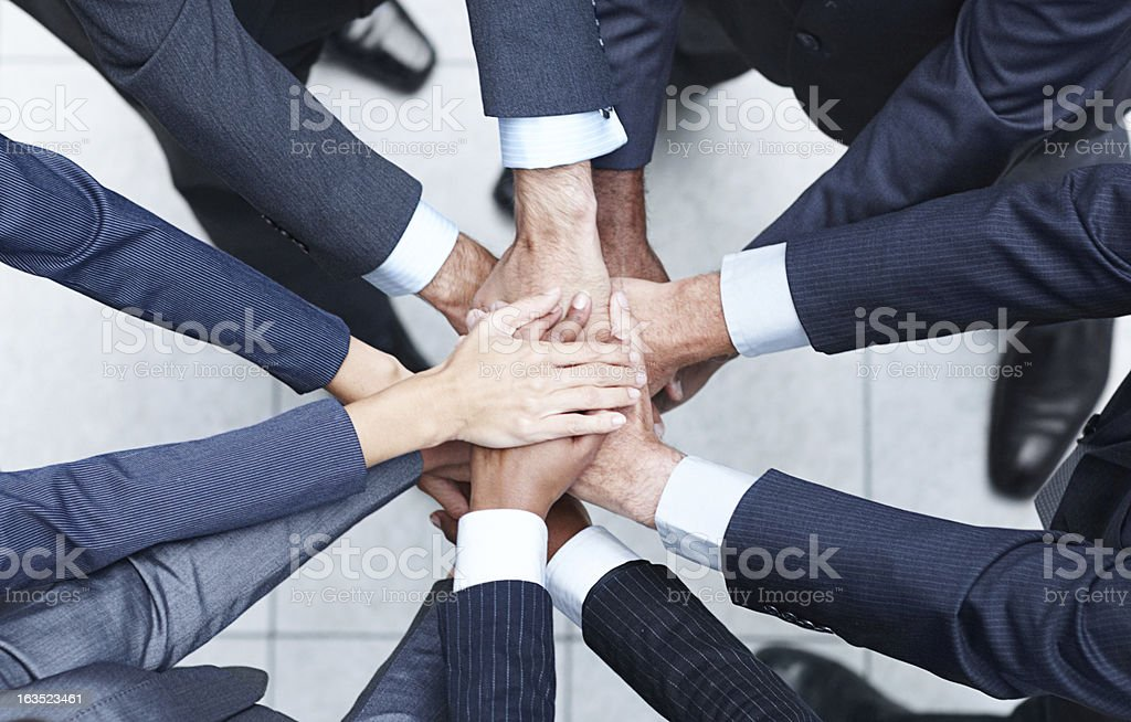 They are united! royalty-free stock photo