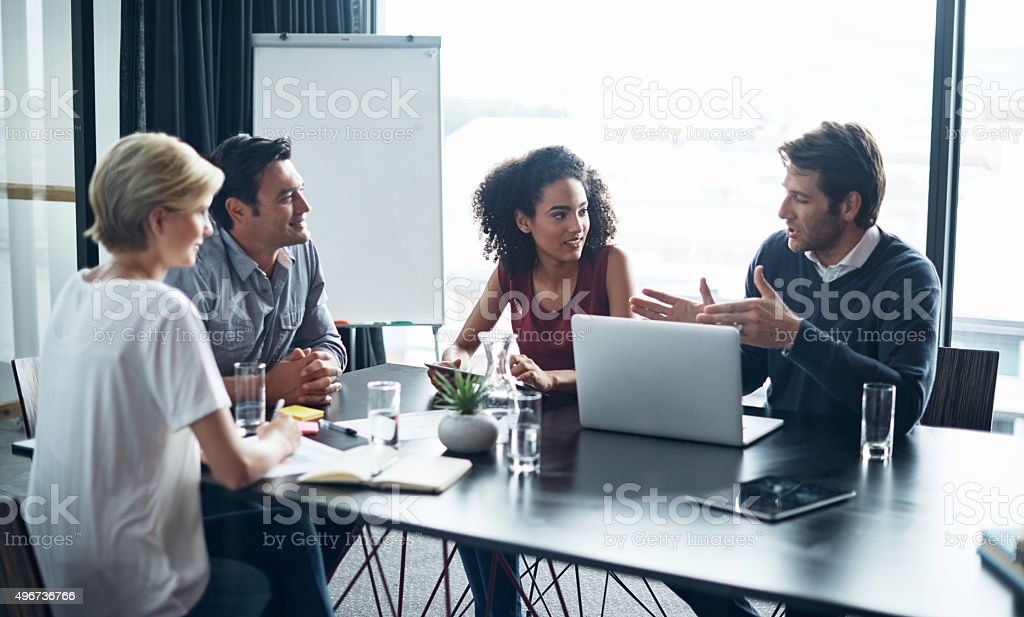 They believe in constant innovation to impress their clients stock photo