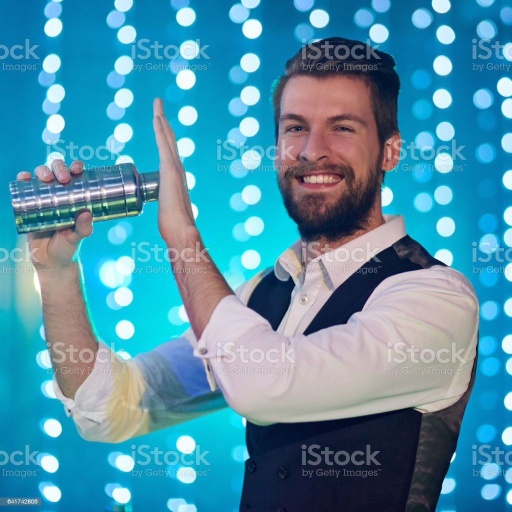 They call me the mix master stock photo