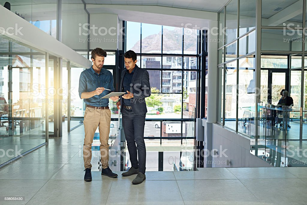 They collaborate on all the big projects stock photo