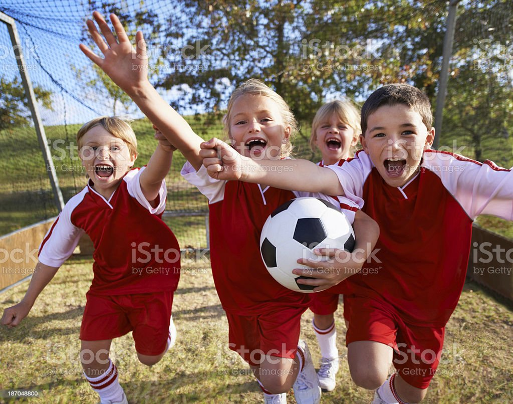 They did it! royalty-free stock photo