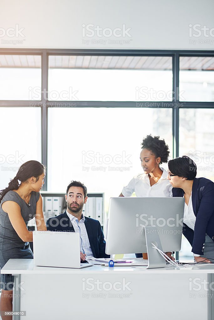 They don't look happy stock photo