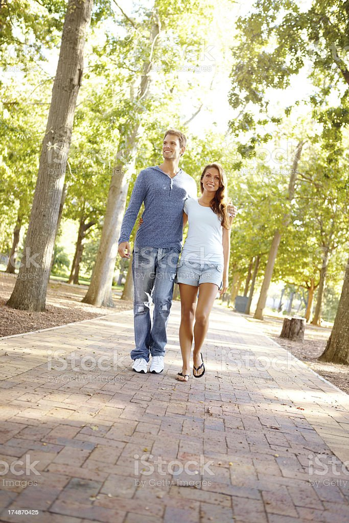 They enjoy their walks together royalty-free stock photo