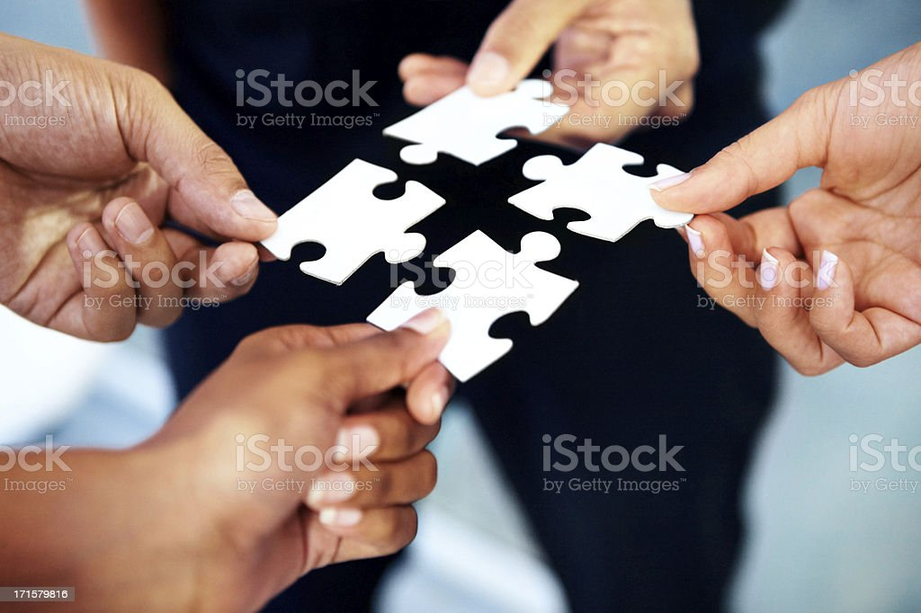 They fit together like pieces of a puzzle stock photo