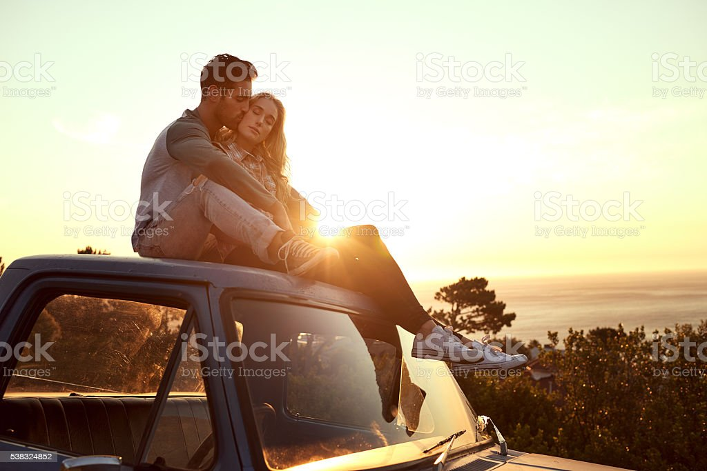They found the perfect spot for some loving stock photo
