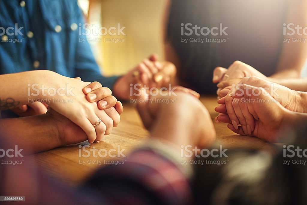 They give each other strength stock photo