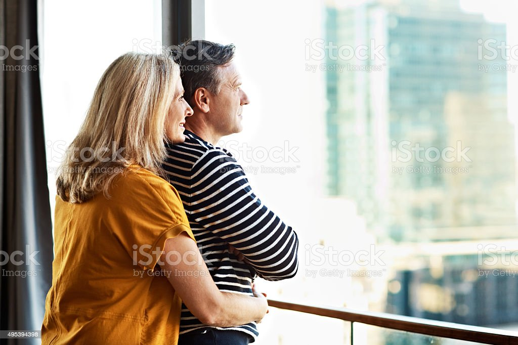They have a long future ahead stock photo