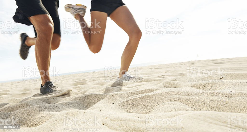 They have a spring in their step royalty-free stock photo