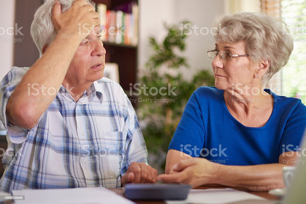 They have a very serious problem now stock photo