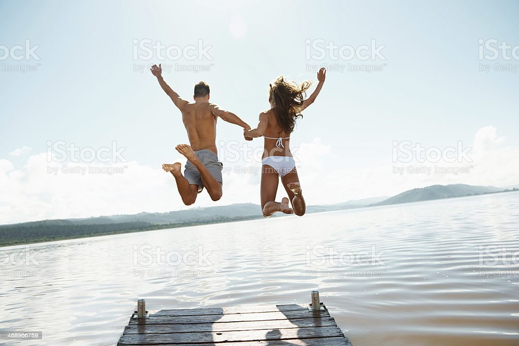 They have never felt more free! stock photo