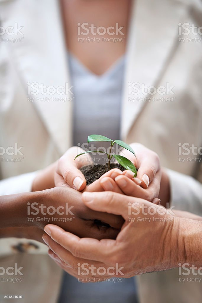 They have the guiding touch royalty-free stock photo