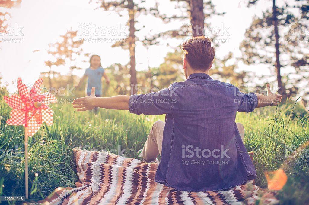 They have the most fun together stock photo