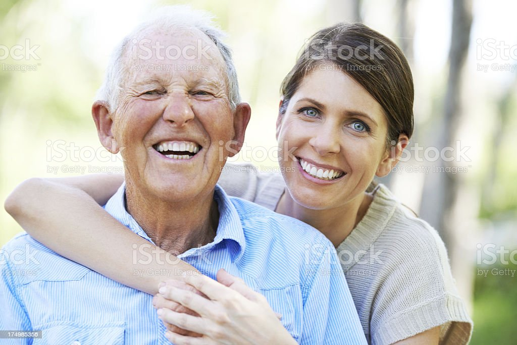 They have the same sense of humor! royalty-free stock photo