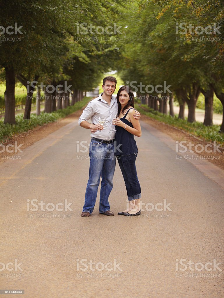 They have walked a long road together royalty-free stock photo