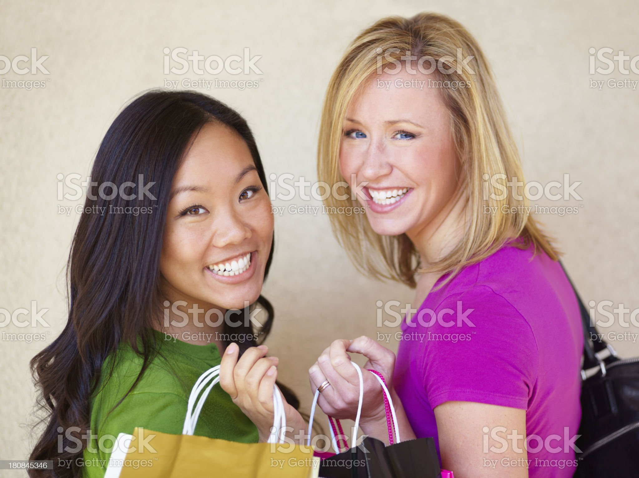 They just love to shop! royalty-free stock photo
