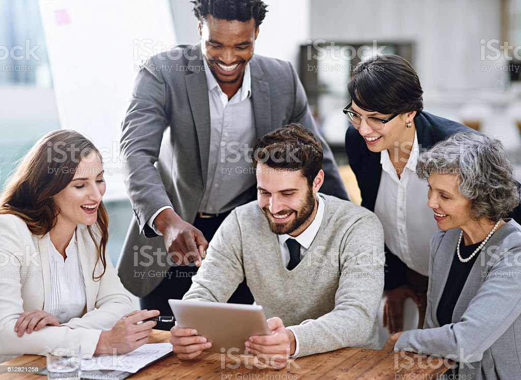 They know exactly how to handle business stock photo