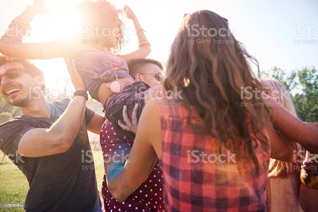 They know what it mean great party stock photo