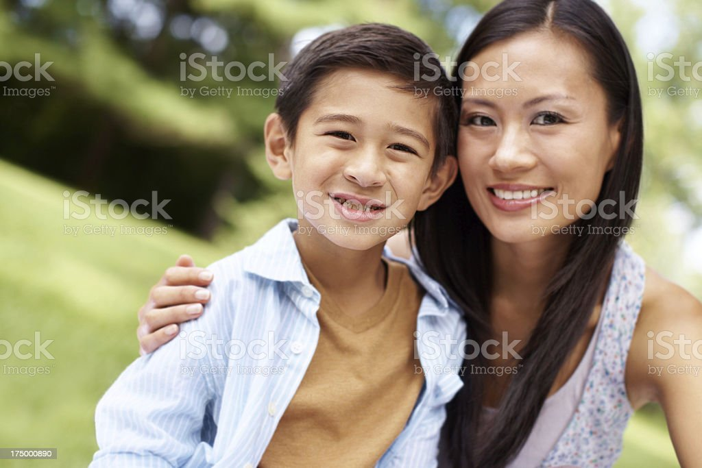 They love spending time with one another! stock photo