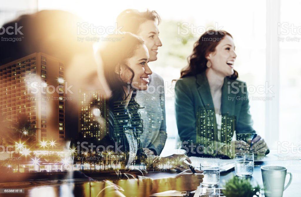 They make success look so simple stock photo