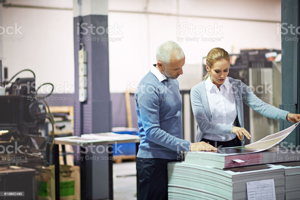 They make sure every little nuance is perfect stock photo