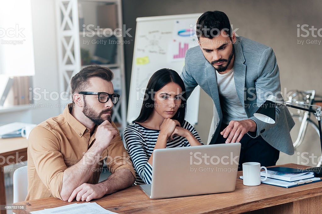 They need an expert advice. stock photo