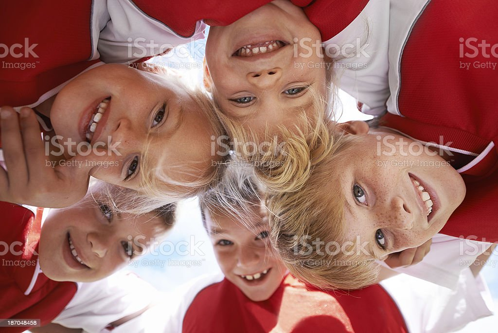 They put the fun in soccer royalty-free stock photo