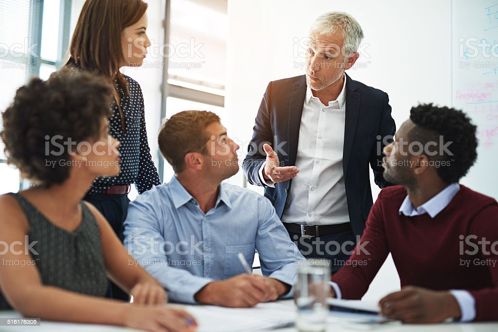They rely on their ability to function as a team stock photo