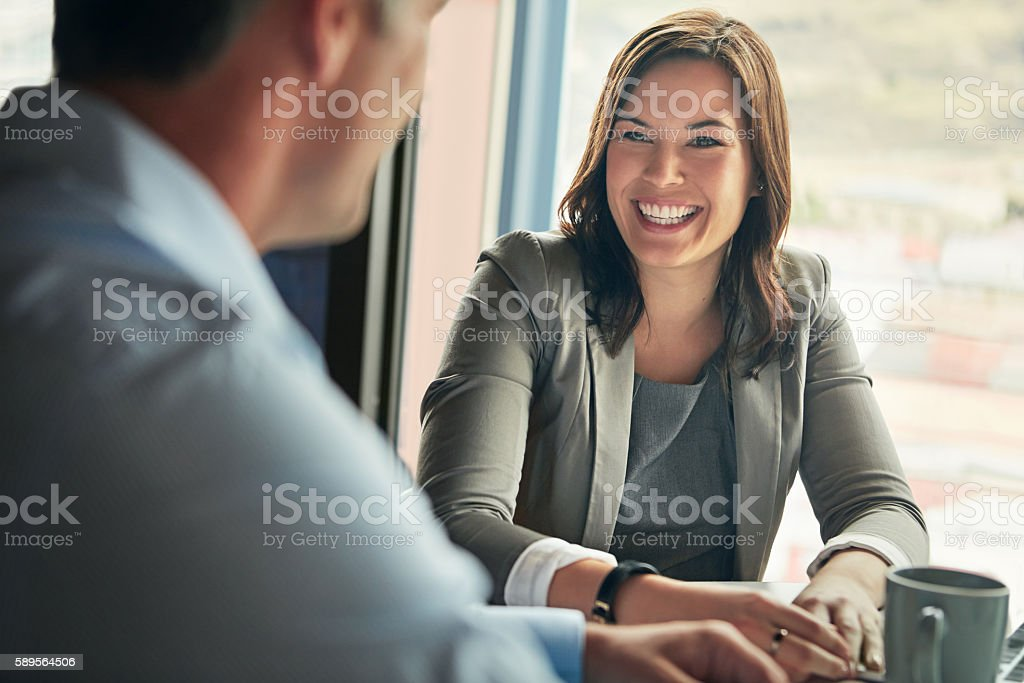 They share a great working relationship stock photo