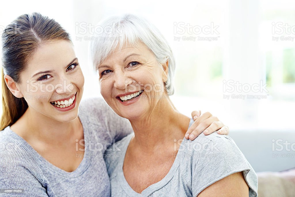They share a loving bond stock photo