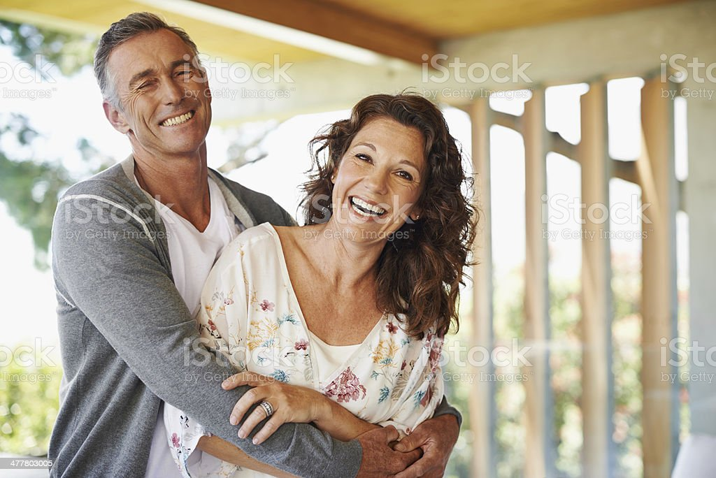 They share a sense of humor! stock photo