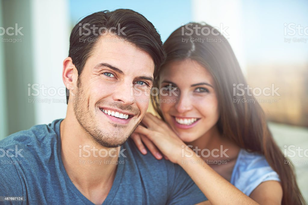 They simply adore each other stock photo