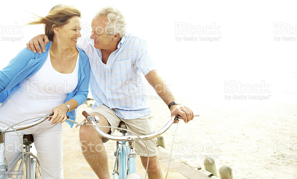 They still only have eyes for each other royalty-free stock photo