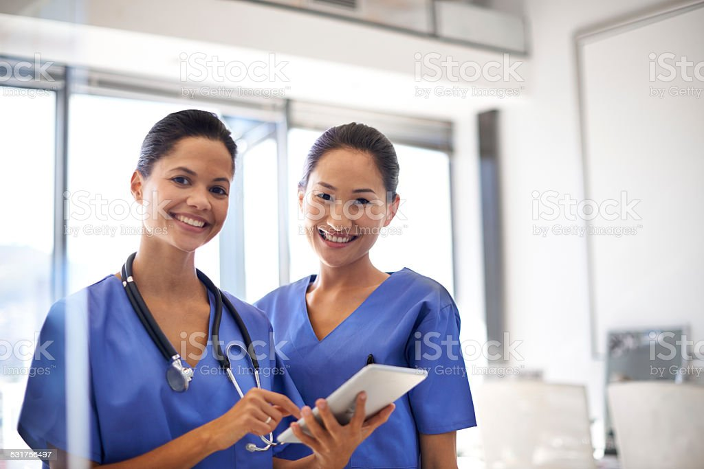 They take good care of their patients stock photo