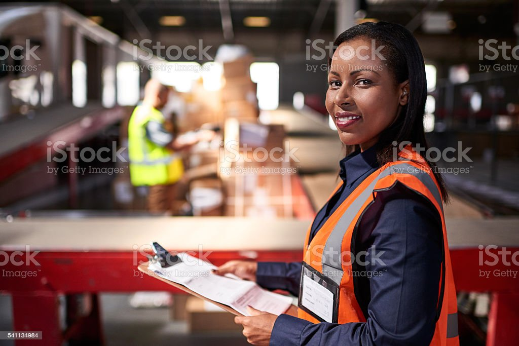 They take the headache out of shipping stock photo