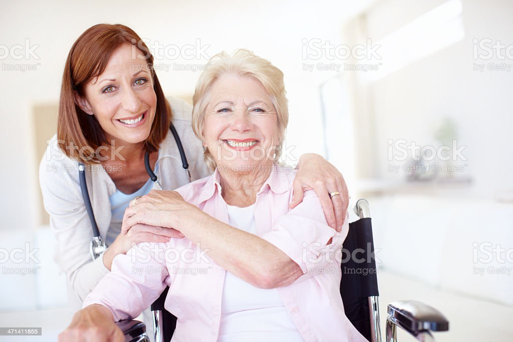They took this journey of recovery together - Senior Health stock photo