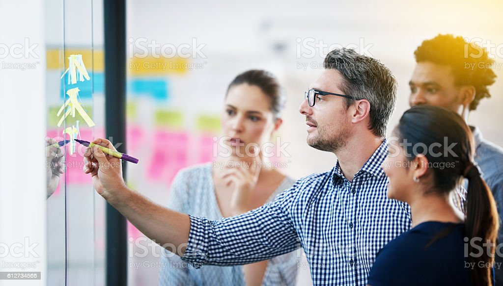 They turn good ideas into great ones stock photo
