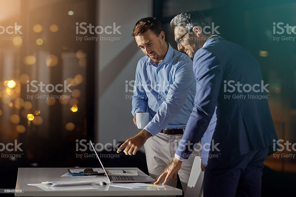 They won't stop until they find a solution stock photo