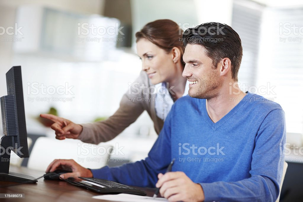 They work best when working together! royalty-free stock photo