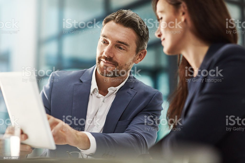 They'll achieve success together stock photo