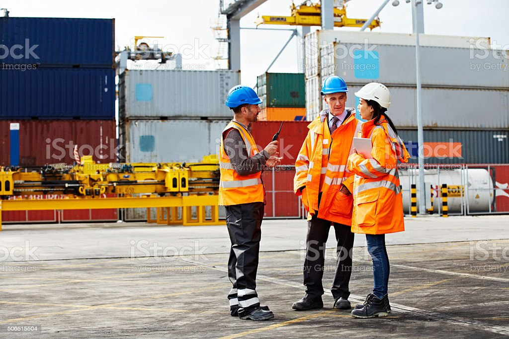 They'll ensure your shipment goes out on schedule stock photo