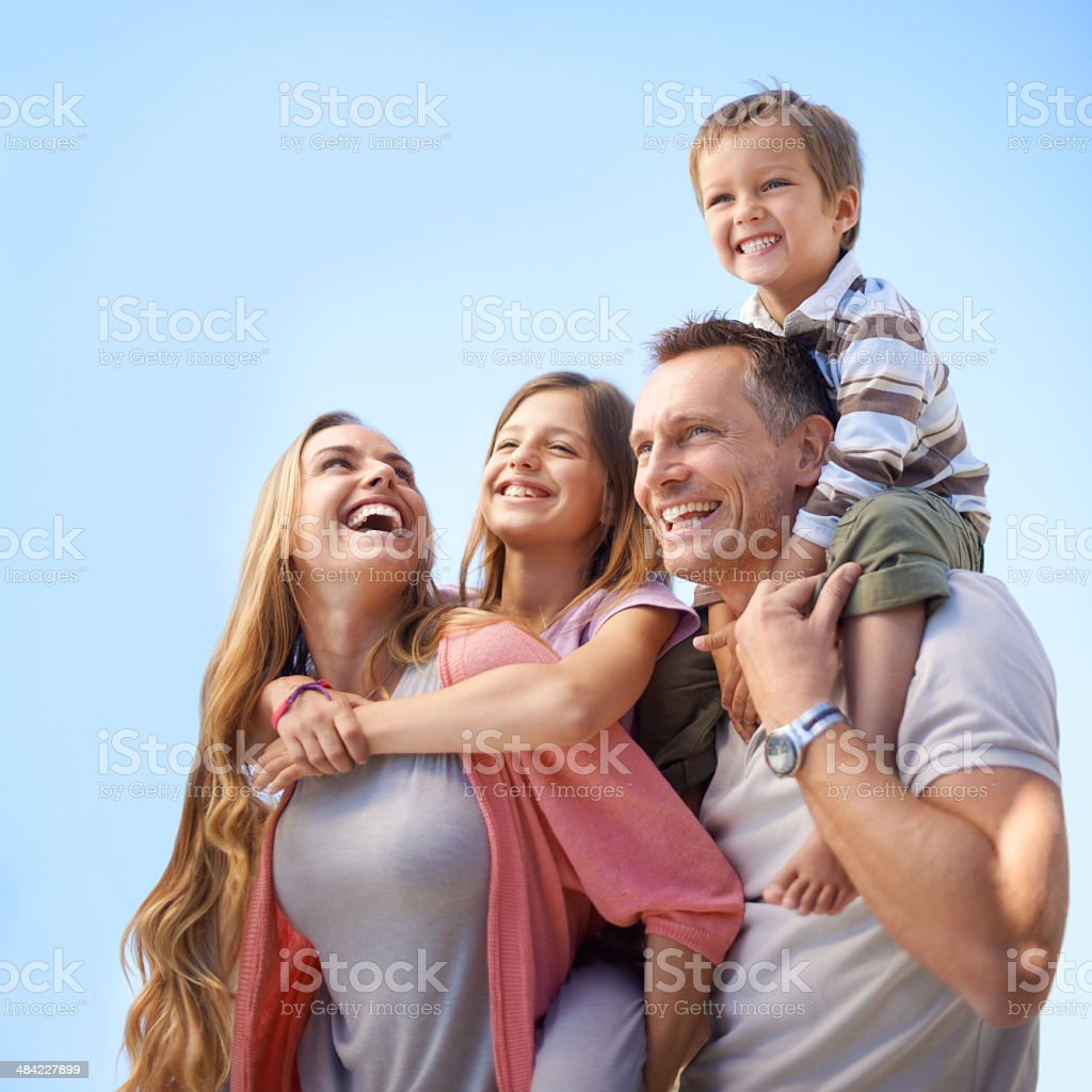 They'll treasure this holiday forever royalty-free stock photo