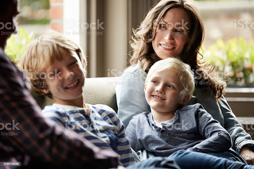 They're a close knit family stock photo