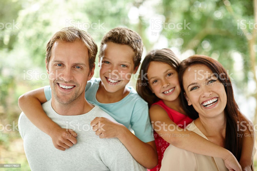 They're a close-knit family stock photo