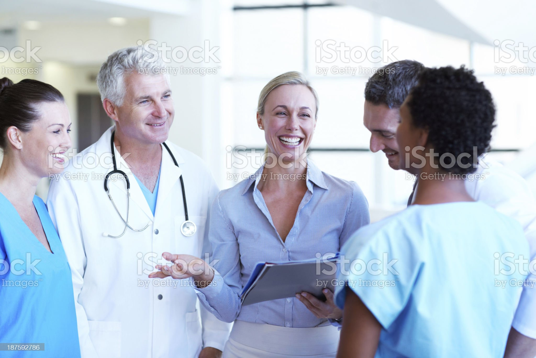 They're a close-knit team of colleagues royalty-free stock photo