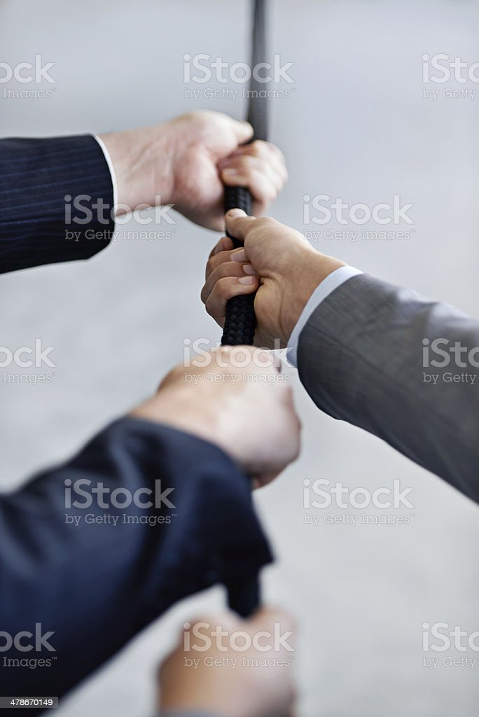 They're a competitive team stock photo