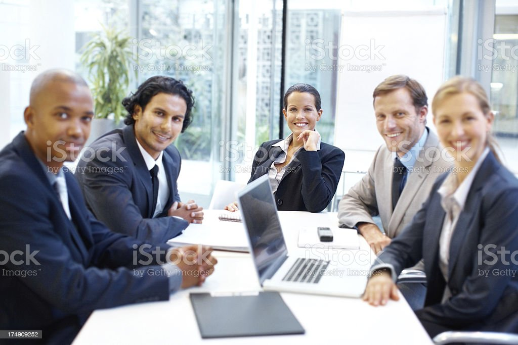 They're a corporate dream team royalty-free stock photo
