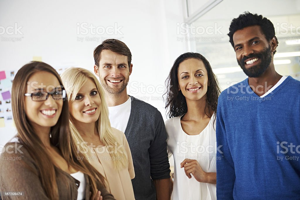 They're a dynamic and successful team royalty-free stock photo