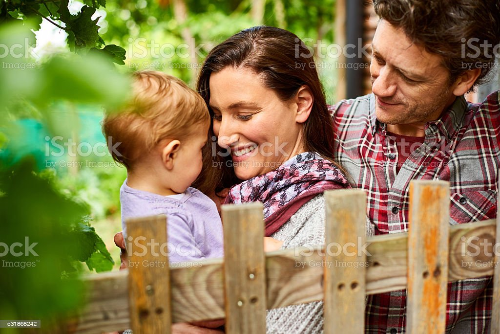 They're a family full of love stock photo